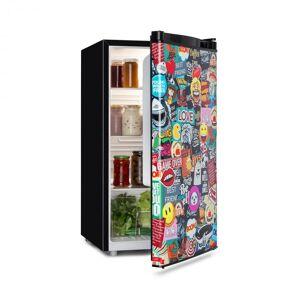 Klarstein Cool Vibe jääkaappi A+ 90 litra VividArt Concept Manga-tyylinen musta