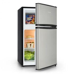 Klarstein Big Daddy Cool -jääkaappipakastin 65/25 litraa ruostumatonta terästä A+ hopeanvärinen