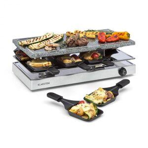 Klarstein Gourmette raclette 1200 W luonnonkivilevy 8 hengelle ruostumaton teräskotelo
