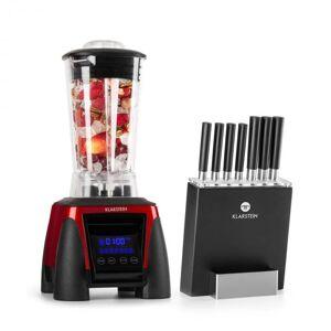 Klarstein Herakles 8G Kitano Power-Mixer -veitsisetti 1800W BPA-vapaa 2l / 7 veistä