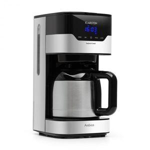 Klarstein kahvinkeitin Arabica 800 W EasyTouch-ohjaus hopea/musta