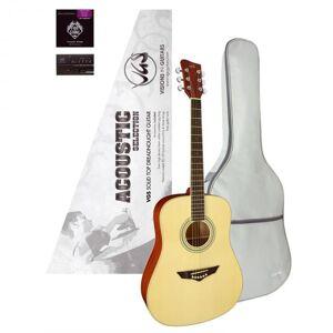 VGS Acoustic Selection Mistral Pack kitara, laukku, viritin