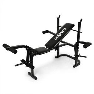 KLARFIT Workout Hero harjoituspenkki painotasolla käsi-ja jalkalaite 160kg musta