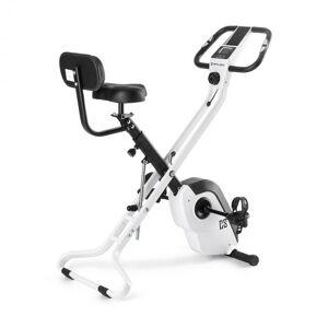 Capital Sports Azura X2 kuntopyörä maksimikuormitus 120 kg sykemittari taitettava 4 kg valkoinen