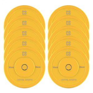 Capital Sports Nipton -levypainot 5 paria 15 kg keltainen kovakumi