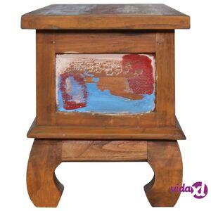 vidaXL TV-taso 110x35x40 cm kierrätetty tiikki