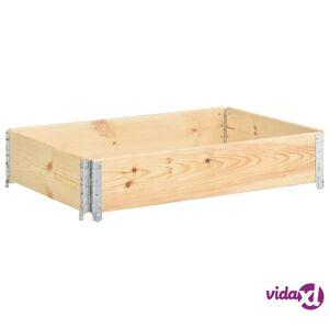 vidaXL Kuormalavan reunus 50x100 cm täysi mänty