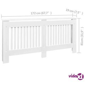 vidaXL Lämpöpatterin suoja MDF 172 cm Valkoinen
