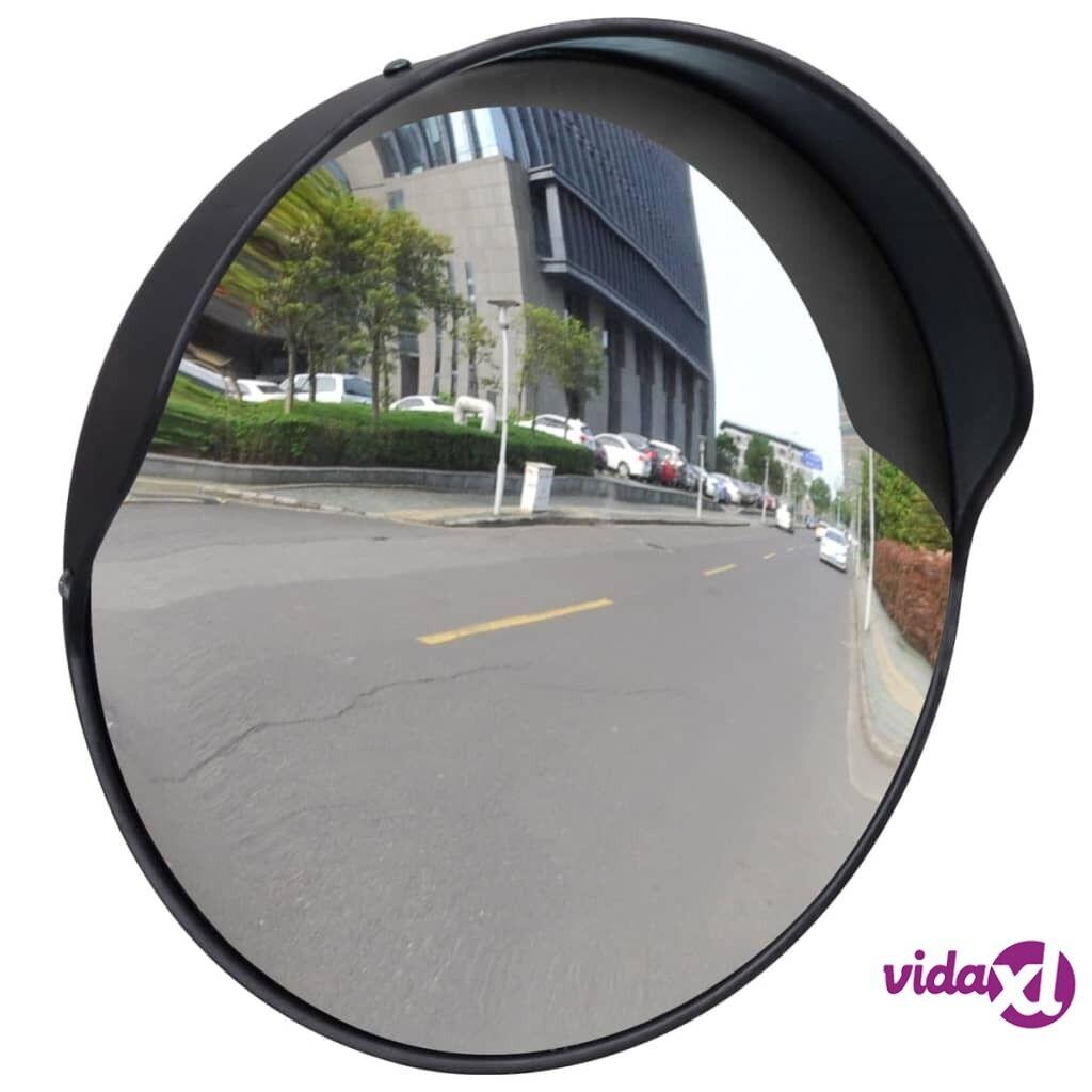 vidaXL Kupera liikennepeili ulkokäyttöön PC-muovi 30 cm musta