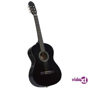 """vidaXL Klassinen kitara aloittelijan sarja laukulla musta 4/4 39"""""""
