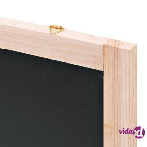 vidaXL Seinäkiinnitettävä liitutaulu setripuu 60x80 cm