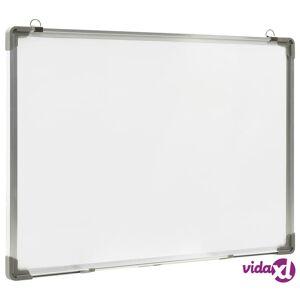vidaXL Magneettinen kuivapyyhittävä tussitaulu valk. 90x60 cm teräs