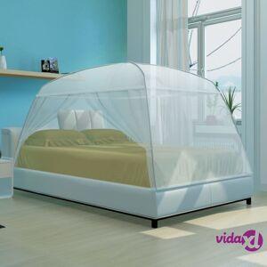 vidaXL Mongolia Verkko Hyönteisverkko 2-ovinen 200 x 180 x 150 cm Valkoinen