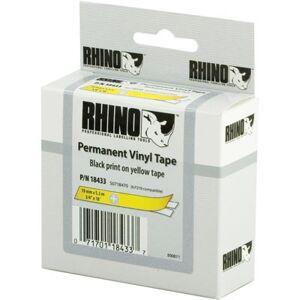 Dymo RhinoPRO merkkausteippi 19mm  keltainen/musta teksti  5.5m