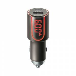Forever Core Ultranopea puhelimen autolaturi USB Type-C PD + QC3.0 30W  harmaa