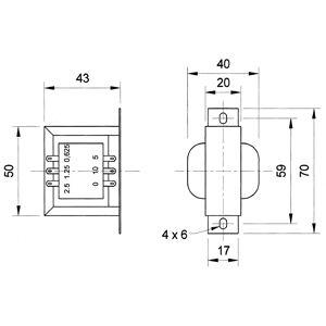 Visaton TR10.16 transformator