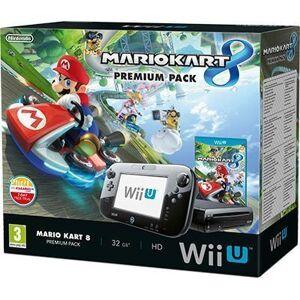 Nintendo Wii U Pelikone Premium Pak Musta + Mario Kart 8 WiiU (Käytetty)
