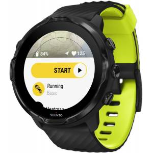 Suunto 7 Black Lime sykemittari