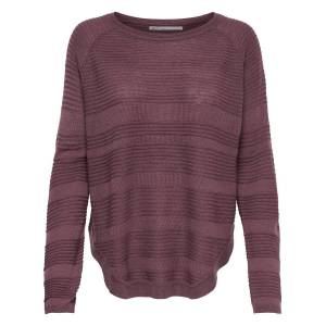 ONLY Texture Knitted Pullover Women Red