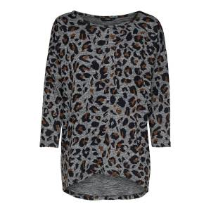 ONLY Printed 3/4 Sleeved Top Women Grey