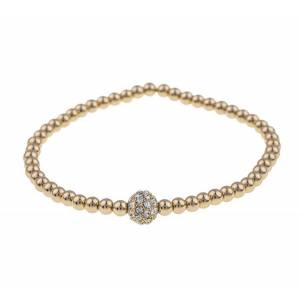 Snö Of Sweden Mysk Small Elastic Bracelet S/M - Gold/Clear