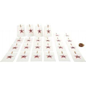 Sekalaiset Joulukalenteri 24 kpl paperipussit valkoinen - Joulukalenteri 10209