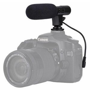 24hshop PULUZ 3.5mm Ammattimainen DSLR-haastattelumikrofoni