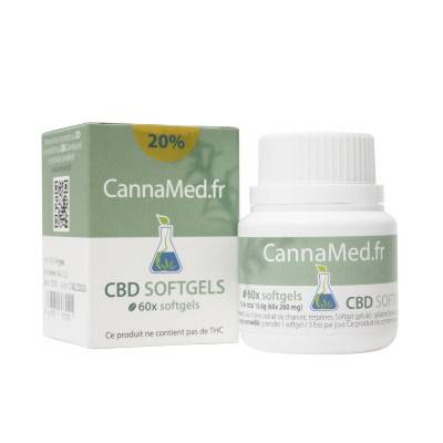 CannaMed.fr Boite de 60 capsules de 32 mg de CBD (20%)