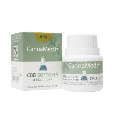 CannaMed.fr Boite de 60 capsules de 6,4 mg de CBD (4%)