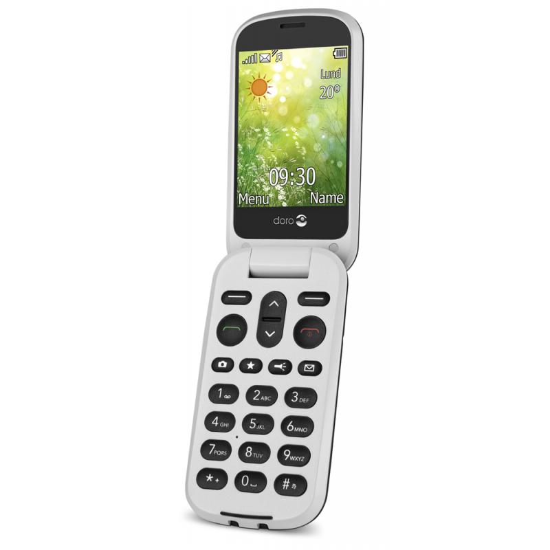 Doro Téléphone Mobile à Clapet DORO 6050 graphite- blanc