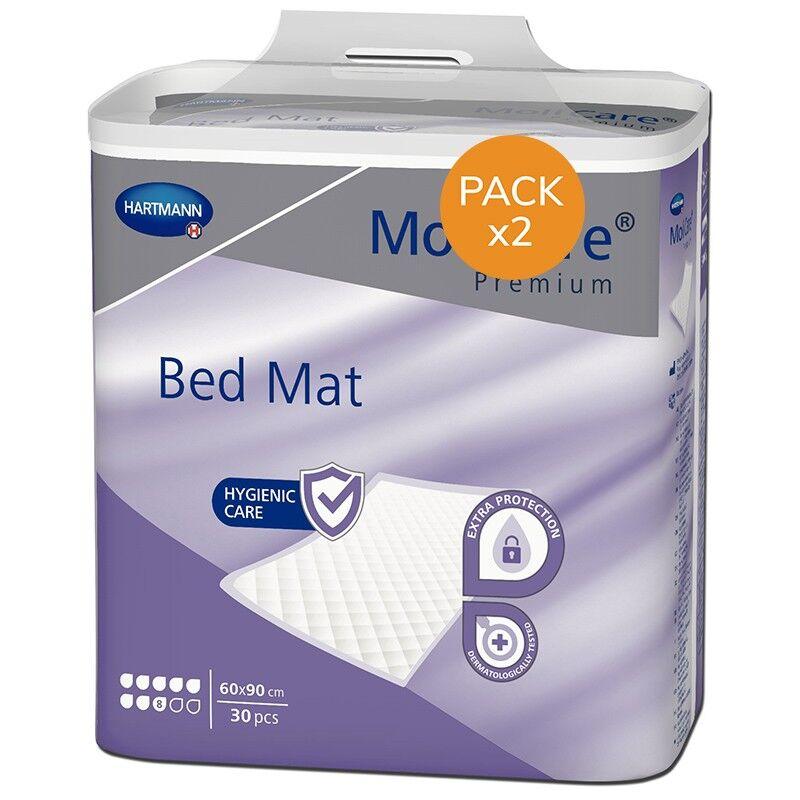 Hartmann BedMat Alèses - HARTMANN MoliCare Premium Bed Mat - 8 gouttes - 60x90 - Pack de 2 sachets