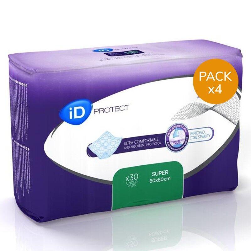 Ontex ID Expert Protect Alèses - ID Expert Protect Super - 60x60 - Pack de 4 sachets
