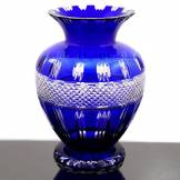 Creations Cristal Vase Anne bleu - 28x19 cm