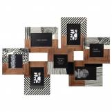 Maisons du Monde Cadre multivues 7 photos en manguier imprimé 69x51
