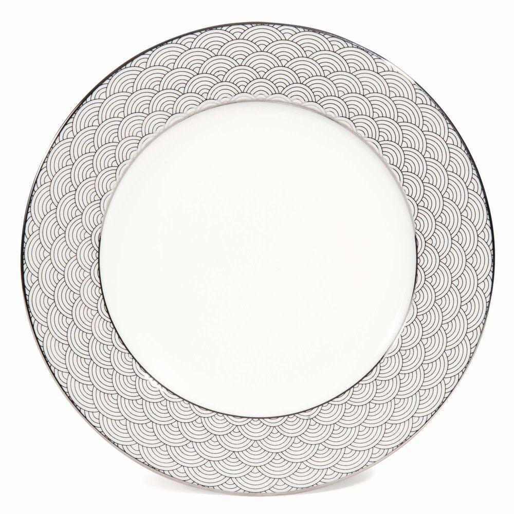Maisons du Monde Assiette à dessert motif japonais en porcelaine D 19 cm MILADY