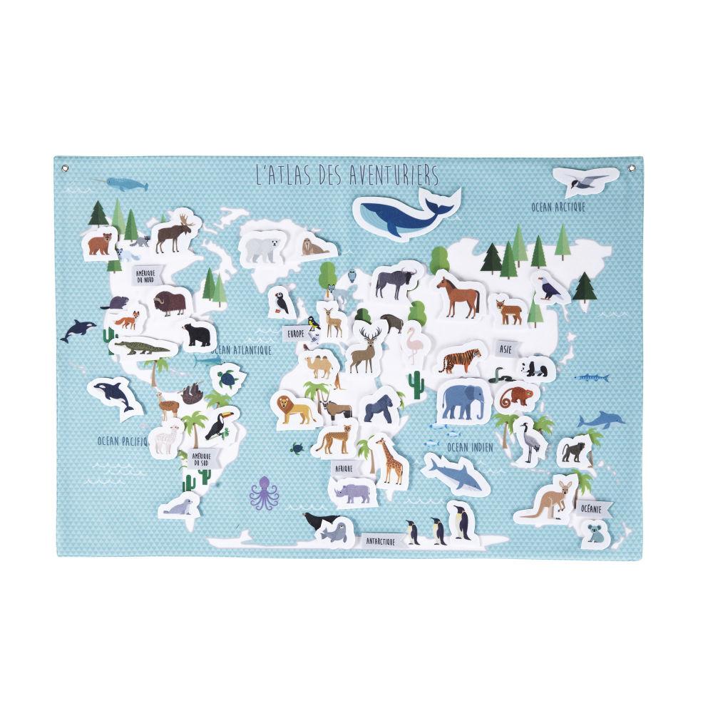 Maisons du Monde Carte des aventuriers 55x80