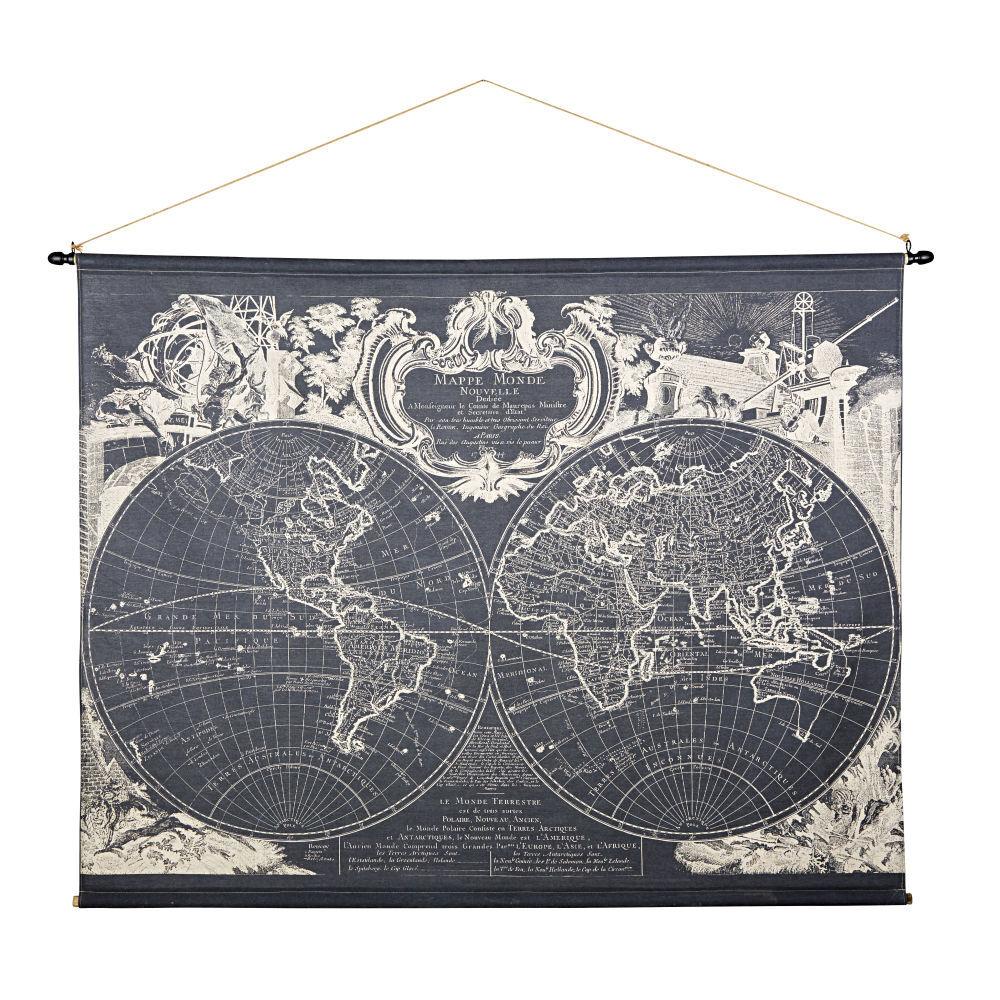 Maisons du Monde Kakemono imprimé mappemonde 191x139