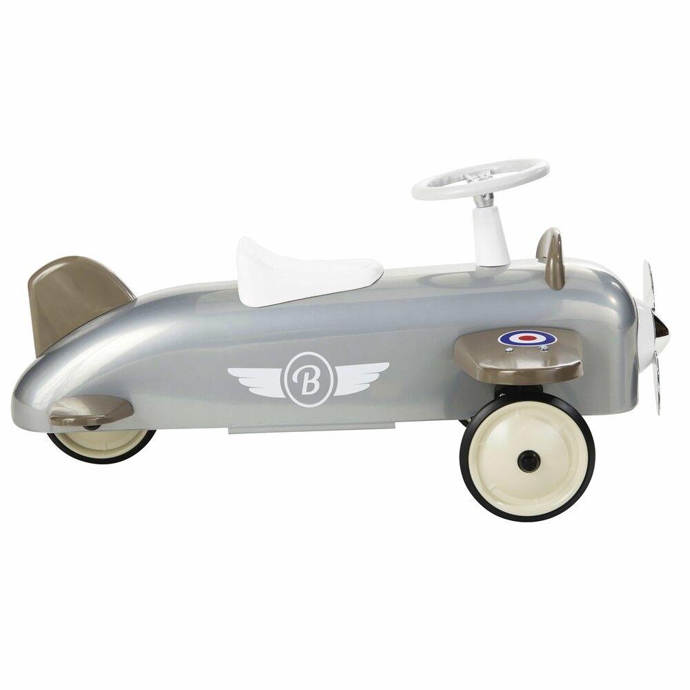 Maisons du Monde Porteur avion en métal gris BAGHERA