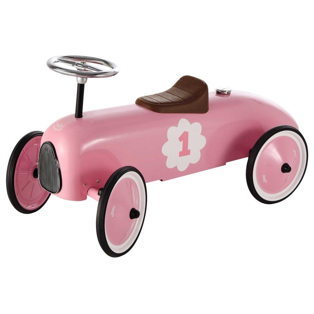 Maisons du Monde Porteur voiture en métal rose