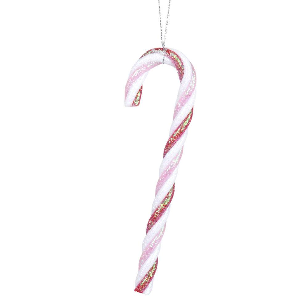 Maisons du Monde Suspension de Noël sucre d'orge rose, blanc et rouge