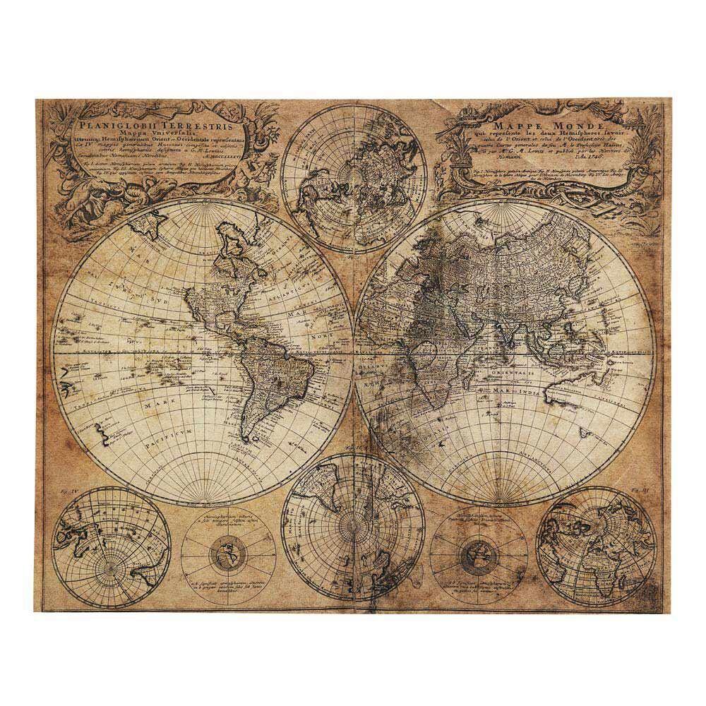Maisons du Monde Toile imprimée carte du monde 73x93