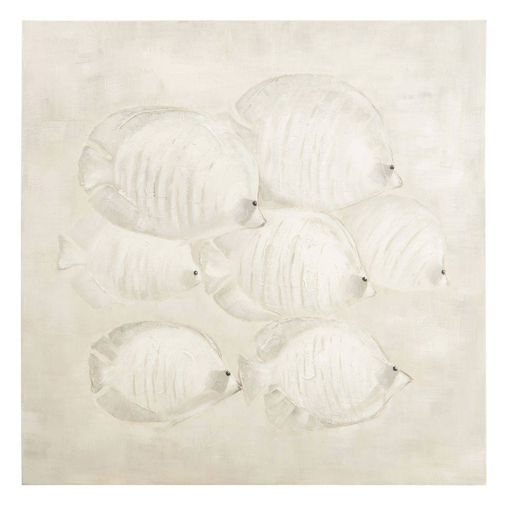 Maisons du Monde Toile peinte poisson 100x100