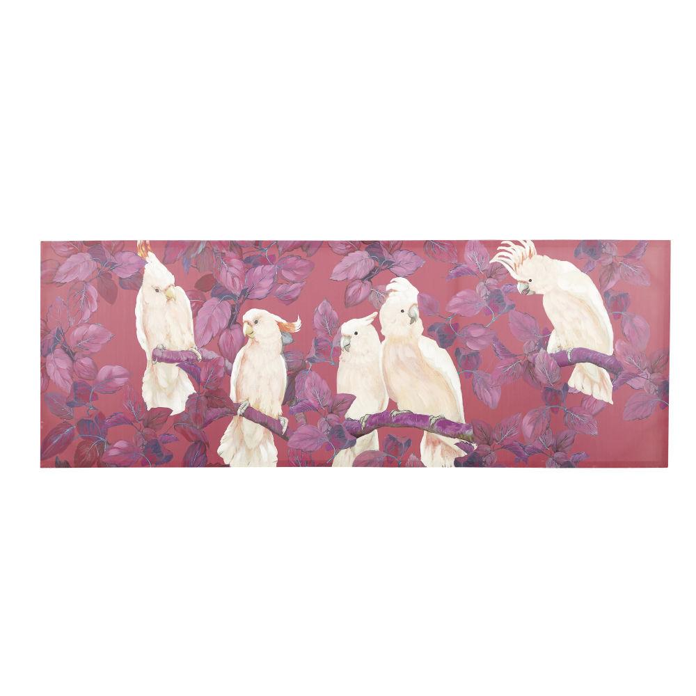 Maisons du Monde Toile rouge imprimé cacatoès 200x70