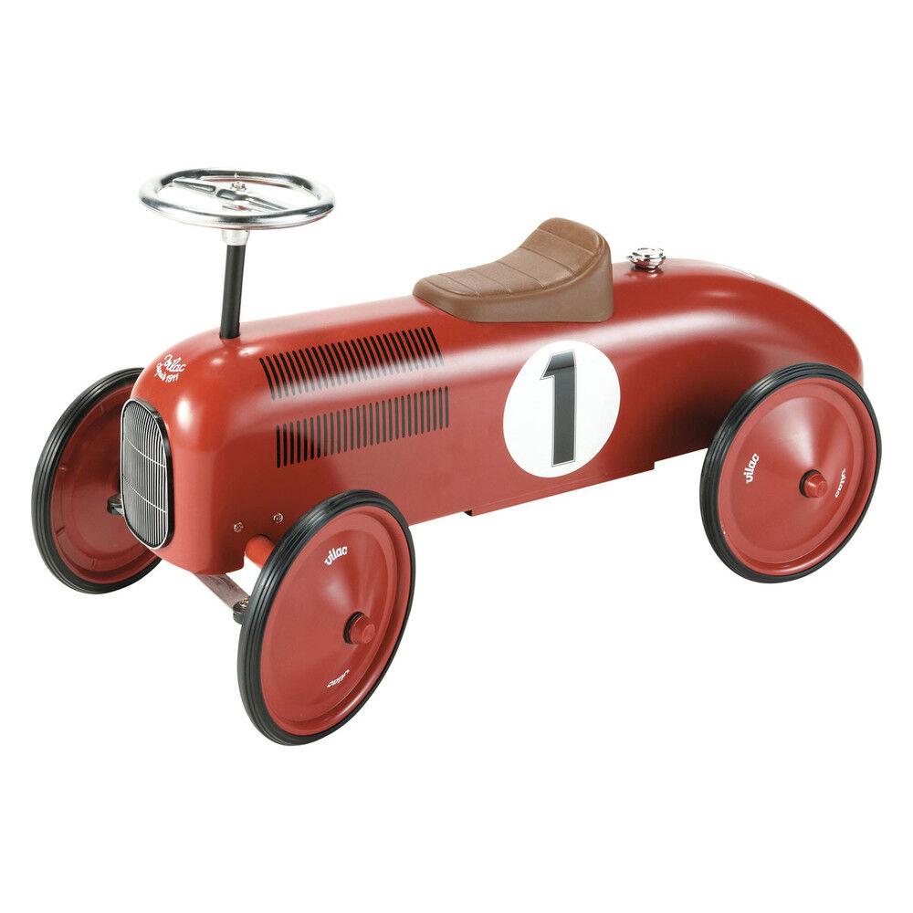 Maisons du Monde Porteur voiture en métal rouge