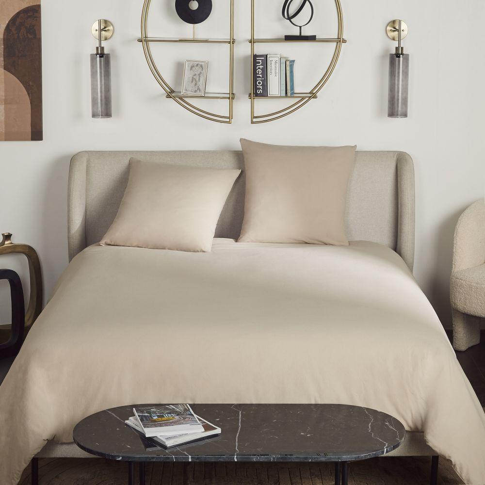 Maisons du Monde Parure de lit en coton lavé bio beige 240x260