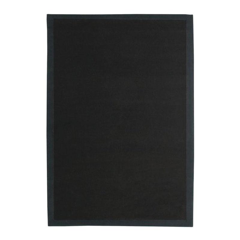 The Deco Factory Tapis en jute noir 160x230
