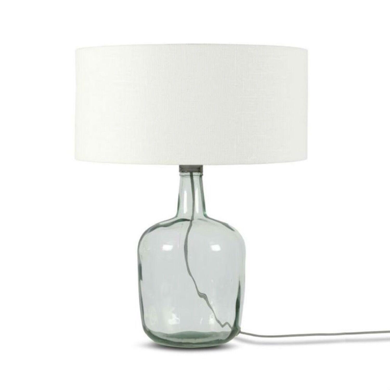 Good & Mojo Lampe  poser verre/lin H47cm