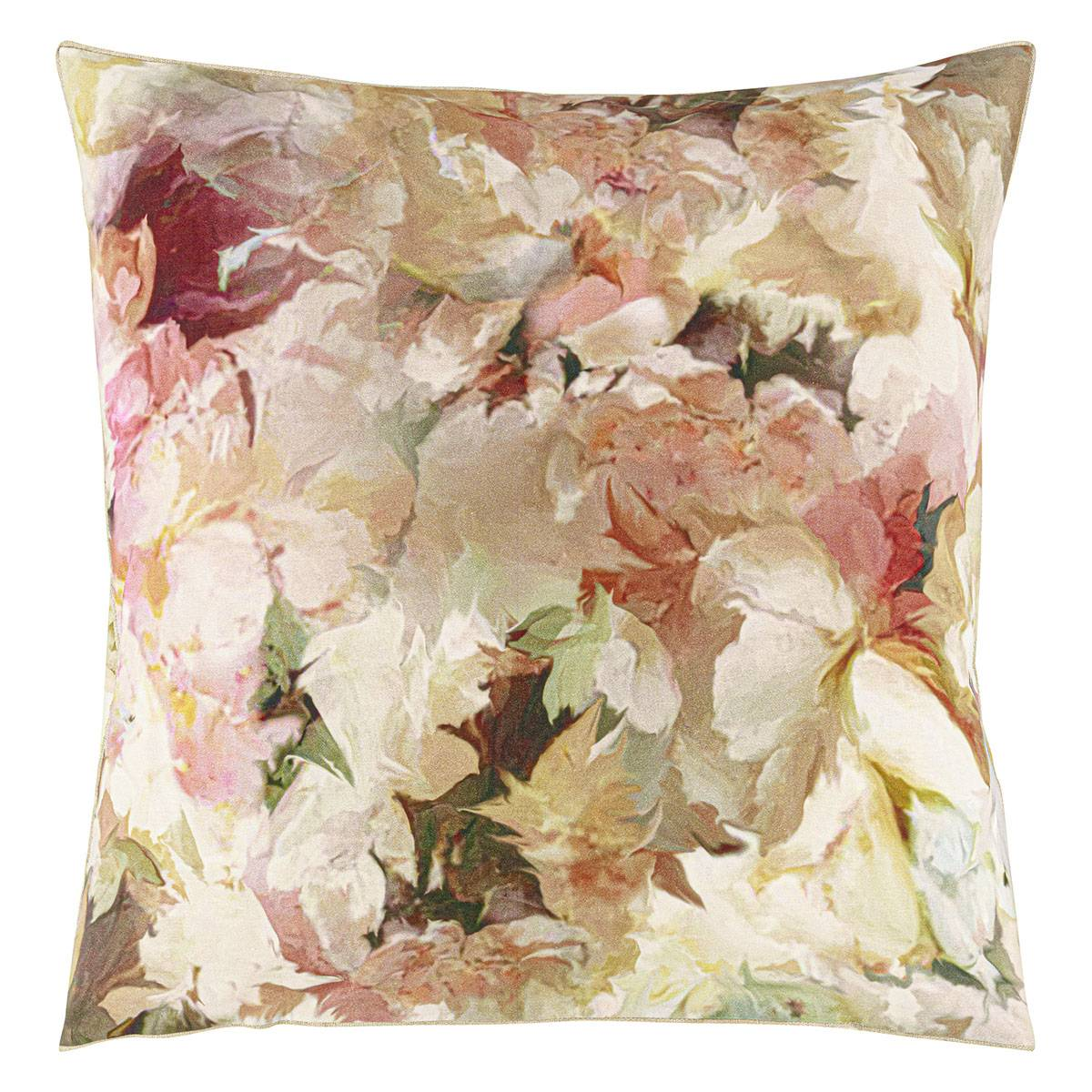 Designers Guild Taie d'oreiller imprimée en percale de coton rose