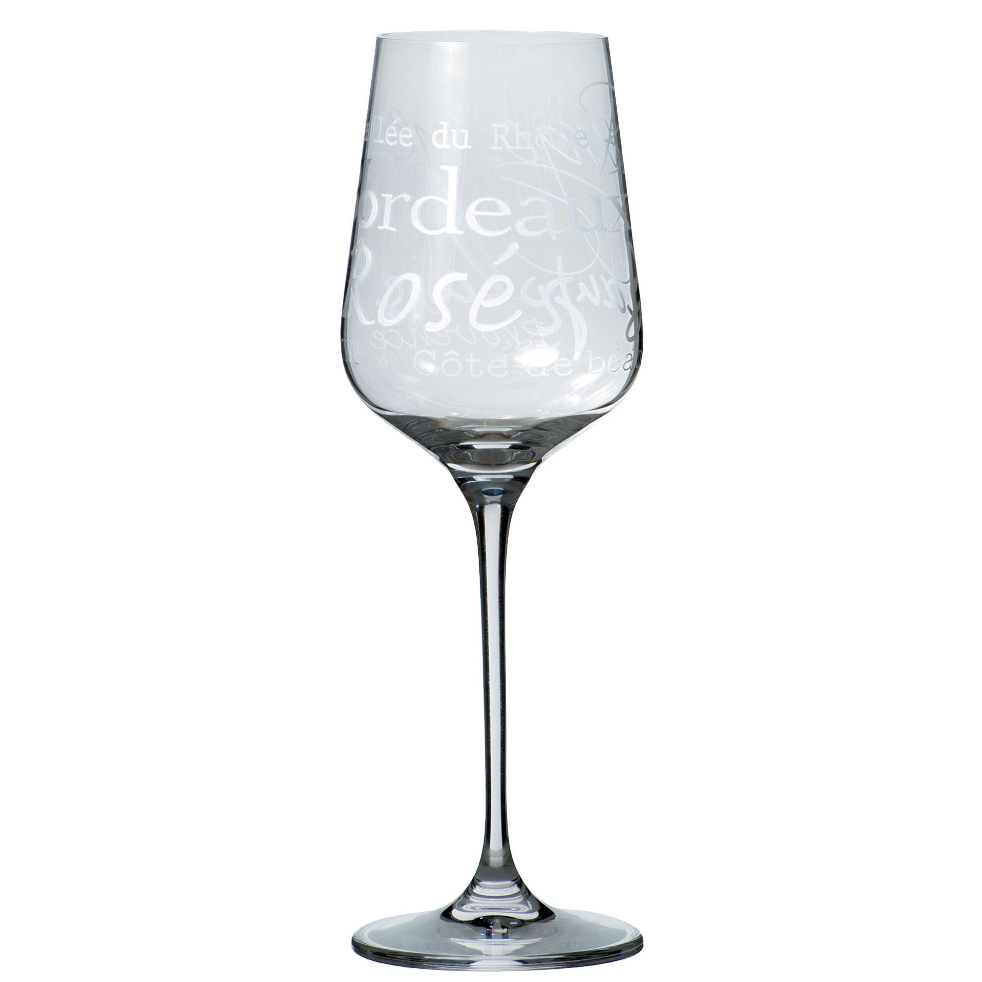 Sibo Homeconcept Verre  vin en cristallin 35 cl - Lot de 6
