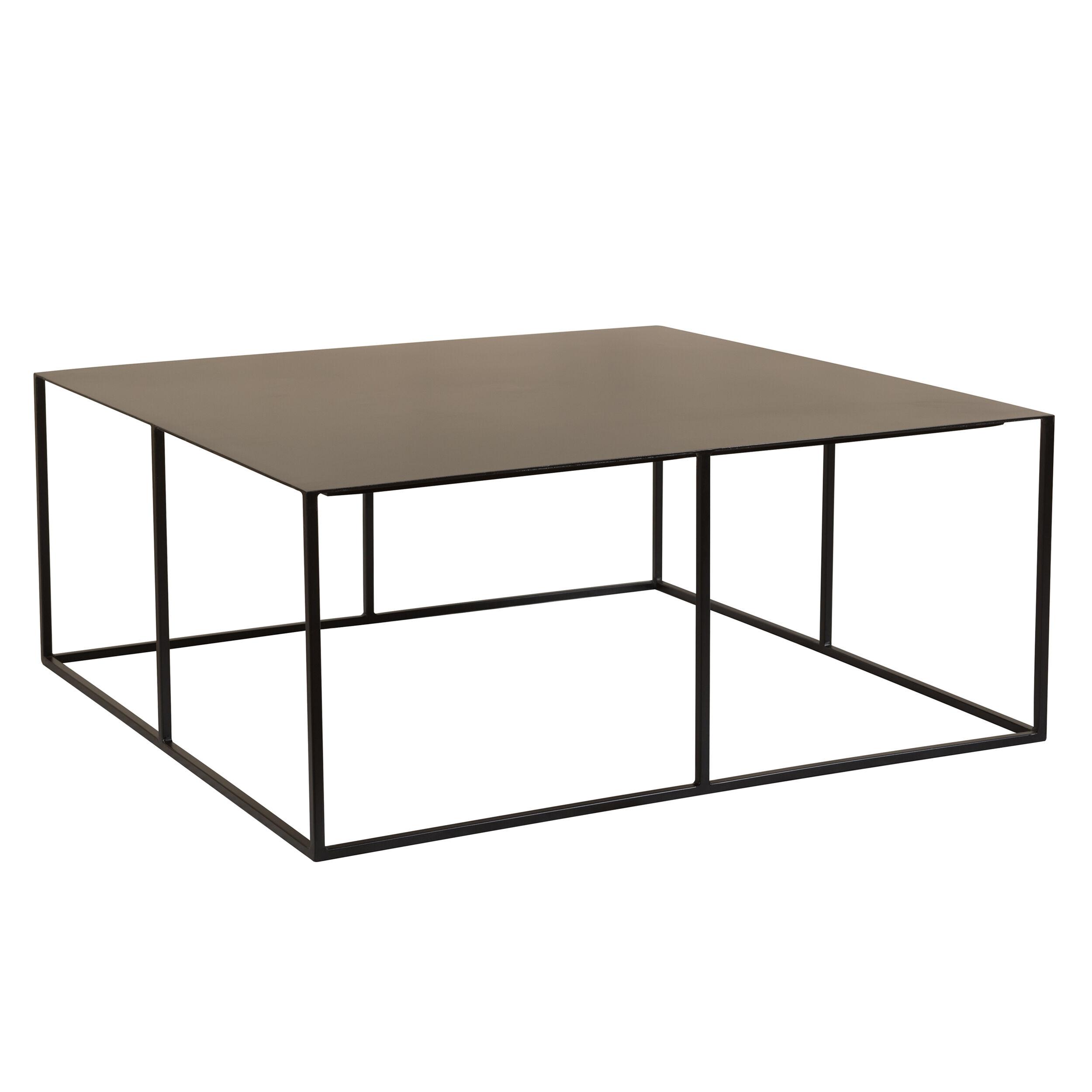 Rendez vous déco Table basse carrée en métal noir